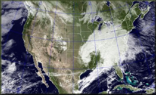 Us live weather map